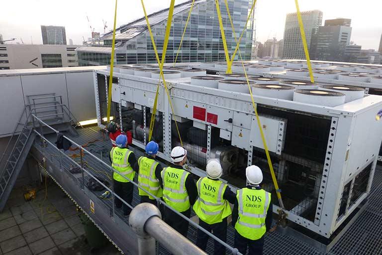 Decommissioning-of-3-x-1-megawatt-chillers-at-Broadgate
